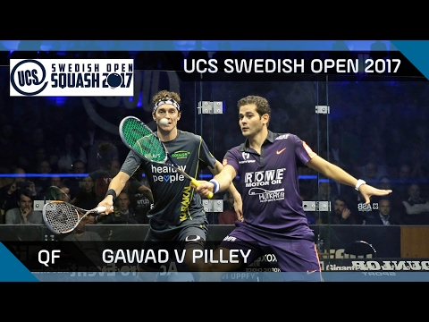 Squash: Gawad v Pilley - UCS Swedish Open 2017 QF Highlights