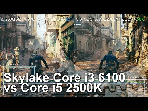 Core i3 6100 vs Core i5 2500K Gameplay Comparison