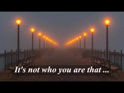 Encouraging quotes - Motivational quotes. It's not who you are that holds you back, it's who you think you're not.