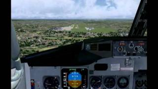 FS9&Wilco 737-300 EDDS Landing - Clean Feed