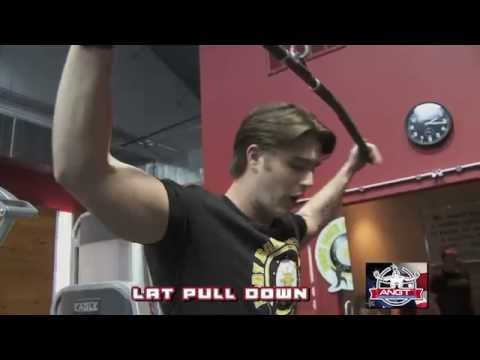 Personal Trainer Ryan Kozar demonstrates the Lat Pull Down