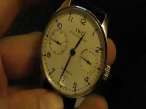 IWC Reviews - Don't forget to visit my watch blog at http://www.reddit.com/tb/f0q2l This is a review of my IWC 5001-07 Portuguese with the in house caliber 51010 pellaton ...