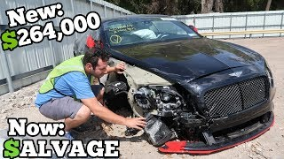 Video A Rare 700HP WRECKED Bentley Showed Up at the Salvage Auction CHEAP! How Much Should I Bid? MP3, 3GP, MP4, WEBM, AVI, FLV Juli 2019