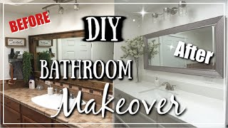 DIY Small Bathroom Makeover | Before & After Transformation | Momma From Scratch