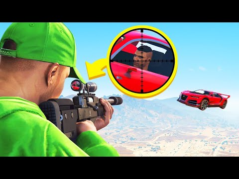 CRAZIEST MID-AIR SNIPER SHOT! (GTA 5 Cars vs Snipers)