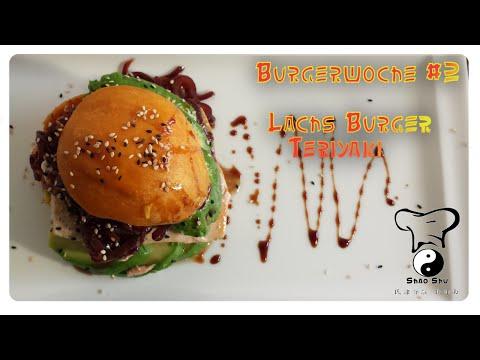 Lachsburger Teriyaki