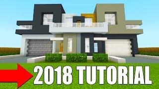 Minecraft Tutorial: How To Make A PRO Modern Mansion 2018