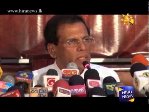 SLFP General Secretary Maithripala Sirisena nominated as the Common Candidate