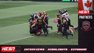 NCAFA 2K16 - PEEWEE - Week 8 RIDEAU REDBLACKS VS BELL WARRIORS