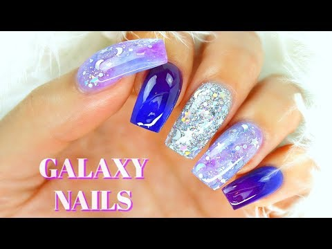Acrylic nails - How to Do Galaxy Nails With Acrylic