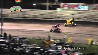 Knoxville Raceway 360 Sprints 8-23-14