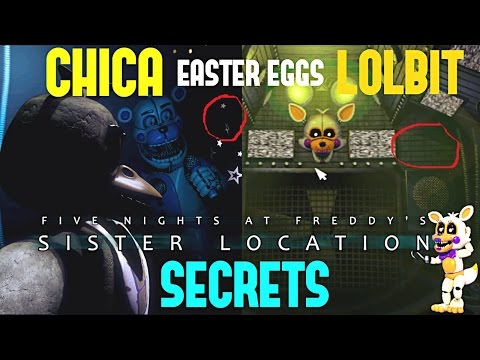 CHICA & LOLBIT | FNAF SISTER LOCATION | EASTER EGGS!