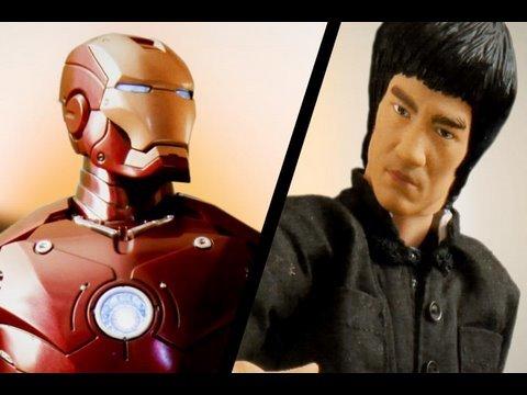 李小龍 VS 鋼鐵人,這模型動畫超屌!