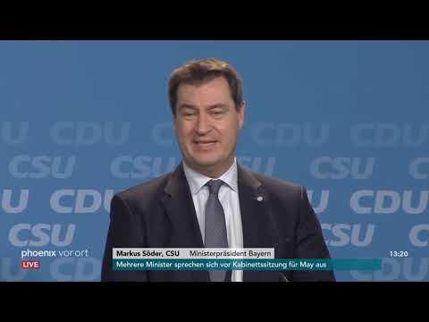 Vorstellung des Europa-Wahlprogramms von CDU/CSU am 2 ...