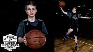 "Gavin ""Q"" Murphy has a jumper that is absolutely money.  At the 2017 CP3 National Middle School Combine he hit pull up jumpers, scored off the dribble, and hit deep threes with his feet set.  The Class of 2023 guard was easily one of the best shooters in the camp and played with a high basketball IQ.  Murphy If you are interested in attending future CP3 Camps please visit www.CP3NMSC.com"