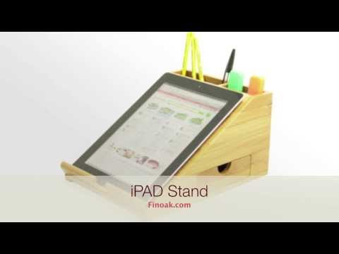 1044 - Bamboo iPad Stand, Desk Organiser