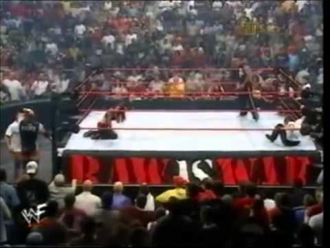WWF RAW 8 21 2000 Lita vs Stephanie Mcmahon The Rock referee) HD