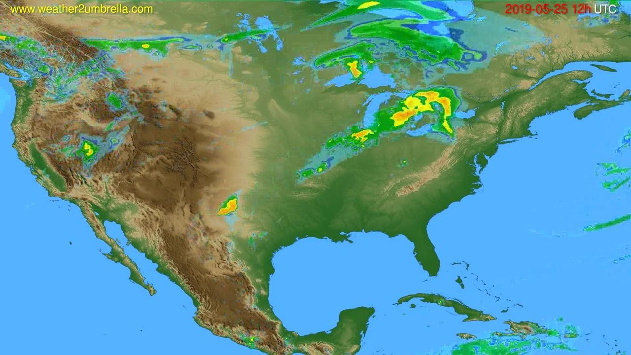 Radar forecast USA & Canada // modelrun: 00h UTC 2019-05-25