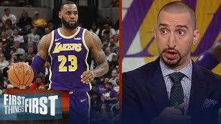 Nick Wright reacts to LeBron and the Lakers 136-94 blowout loss vs Pacers | NBA | FIRST THINGS FIRST
