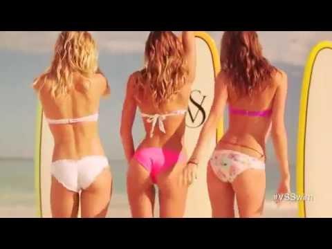 Victoria Secret Swimsuit bikini mix models on Beach Day 2013 to song On the Beach At Waikiki