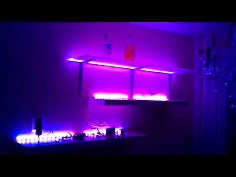hamburgtech RGB LED Regal / board first test