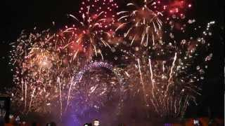 New Year Eve London's 2013 from Victoria Embankment (not from BBC:)