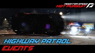 NFS: Hot Pursuit (2010) Playlist: https://www.youtube.com/playlist?list=PLi-a_-JYhWjsi7Zt9vGoZFpXuI0uUhBd4* Highway Patrol- Denial of Service (00:51)• SCPD has taken delivery of the latest  EMP equipment. Use your EMPs wisely and watch out for racers trying to jam them.• Used ride: Audi TT RS- Spike Out (03:38)• Last night a suspect was seen using spike strips against SCPD units. There is a new threat out there.• Used ride: Porsche Cayman S- More Haste; Less Speed (06:19)• Let's see how fast you can respond to an emergency. Race east on Bear Hollow, but drive carefully - you'll incur time penalties for anything you hit.• Used ride: Maserati GranTurismo S- Summit Assault (10:27)• Head for the mountains and bring down 5 suspects tearing up the asphalt at Eagle Crest. Make use of EMP, road blocks and spike strips as you see fit.• Used ride:  Porsche 911 Targa 4S- Protect and Swerve (12:53)• In recognition of your driving skill, you've been granted access to Seacrest County's elite Corvette ZR1. Take it to the end of Fox Lair Pass with little damage as possible.• Used ride: Chevrolet Corvette ZR1- Eye in the Sky (16:07)• SCPD airbourne units have now been assigned to your department.• Used ride: Porsche Cayman S- French Connection (18:55)• Seacrest County PD has exclusive access to the world's fastest police car. Race it to the end of Rockingham Road as fast as you can. You'll pick up time penalties for anything you hit.• Used ride: Bugatti Veyron 16.4- Point of Impact (22:18)• Six racers have been clocked at 321 kph+ heading south through the desert badlands. Stop them before they reach civilisation. • Used ride: Ford Shelby Mustang GT 500- Precision Pursuit (25:58)• In a police emergency, you need to drive fast and clean. Race along Hope Canyon Freeway. You'll incur time penalties for anything you hit.• Used ride: Porsche 911 Targa 4S- Turn The Tables (29:14)• Be advised, this suspect is likely to make hazardous U-turn manoeuvres. • Used ride: Dodge Challenger SRT8Used device: KeyboardRecording Software: Shadowplay (NVIDIA GTX 760)Video Editing Software: Adobe Premiere Pro CS6