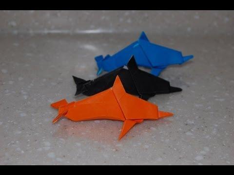 Origami Dolphin Video - Sea Life / 종이접기 돌고래(돌핀) 접는 방법 동영상