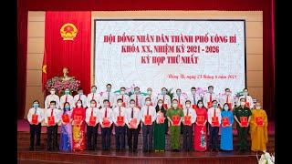 Kỳ họp thứ nhất HĐND thành phố Uông Bí khóa XX bầu các chức danh chủ chốt của HĐND, UBND Thành phố