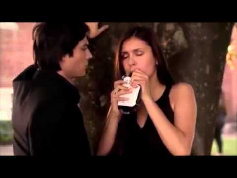 The Vampire Diaries 4x02 Damon helps Elena after she vomits up blood