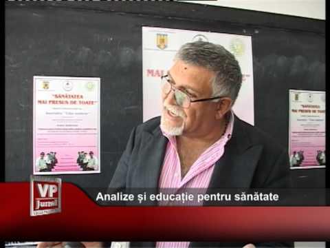 Analize și educație pentru sănătate