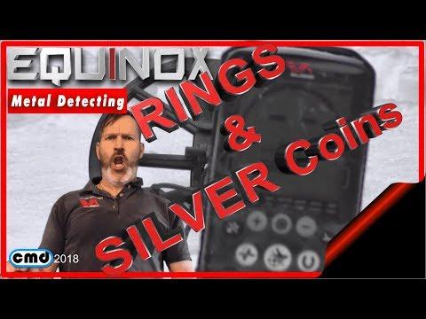 Beach Metal Detecting | Minelab Equinox | Rings & Silver coins