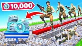 50 STAGES of NOOB DEATH RUN *NEW* Game Mode  in Fortnite Battle Royale