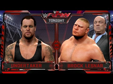 WWE RAW 2K15 - Undertaker Vs Brock Lesnar Match - RAW 7/20/15