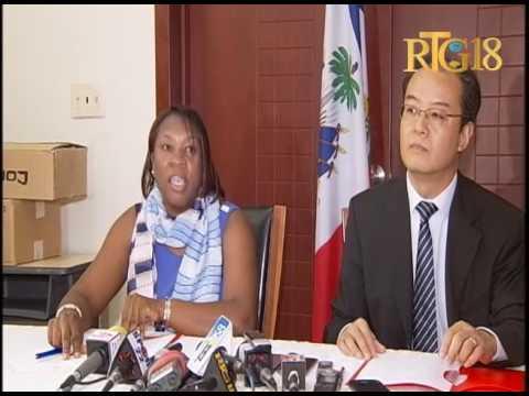 Haïti.- Le Bureau commercial de Chine en Haïti fait don de matériel au gouvernement haïtien