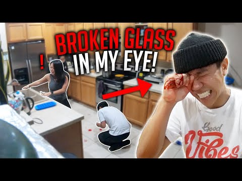 GLASS STUCK IN EYE PRANK!! **INTENSE, family freaks out and cries**