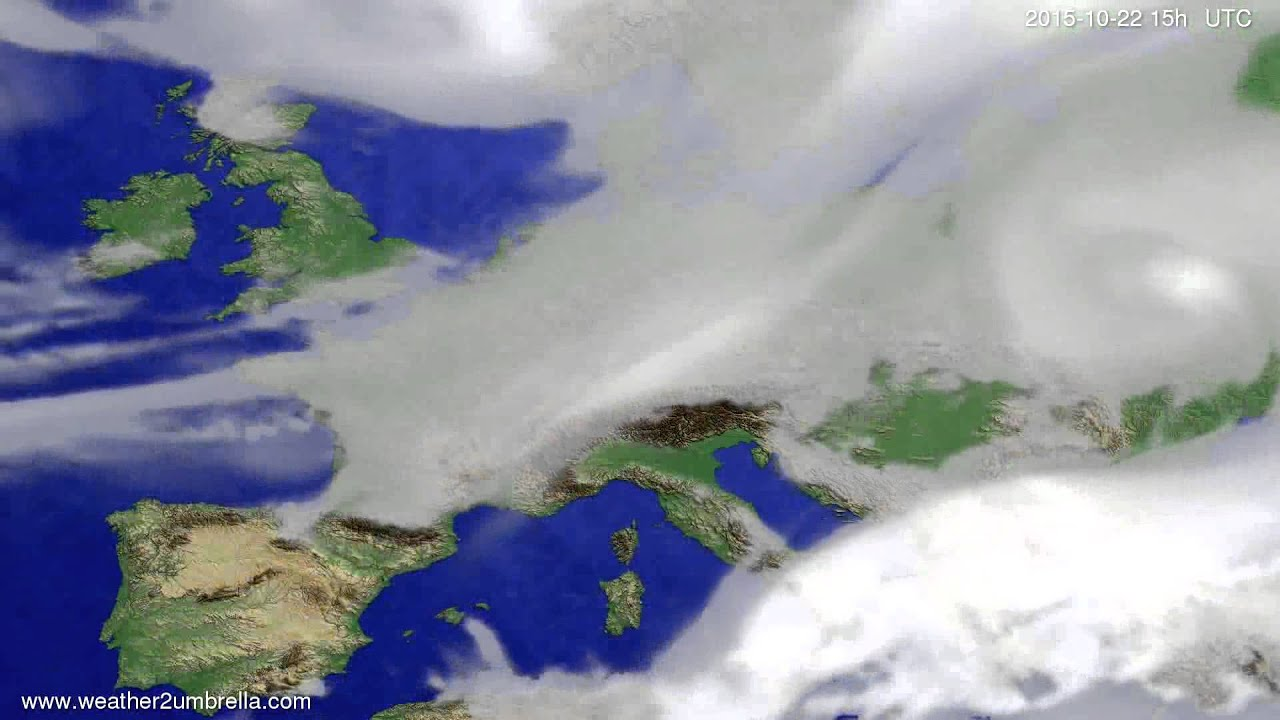 Cloud forecast Europe 2015-10-20