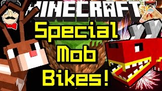 Minecraft SPECIAL MOB BIKES! Ride Notch, Firework Dragons, Reindeers&More!