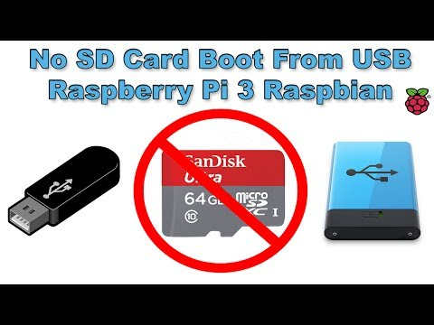 USB Boot Mode No SD Card Raspberry Pi 3 Raspbian Pixel