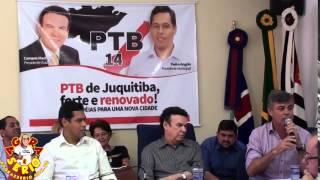 Prefeito Fernandão na reunião do PTB 14