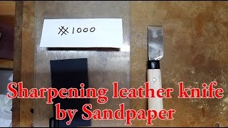 At first, using #1000 sandpaper.and finally using #3000 sandpaper.no have whetstone.
