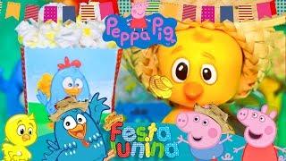 É época de São João (festa junina) em HappyTown! E o nosso Arraiá da Galinha Pintadinha e da Peppa Pig já começou! É hora...