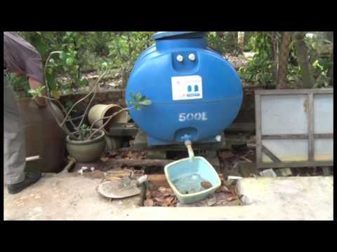Thực hành vệ sinh bồn chứa nước tại hộ gia đình