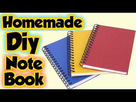 Diy Notebook - how to make notebook at home - homemade notebook cover idea /diy school notebook idea