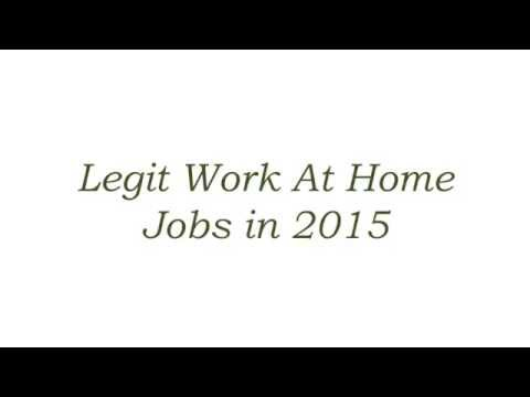 Legit Work At Home Jobs in 2015 No Fees And No Startup Costs
