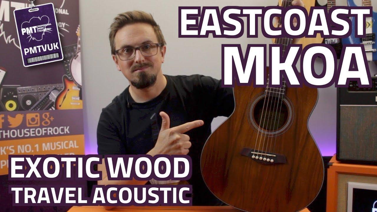 Eastcoast MKOA Travel Acoustic Guitar – Review & Demo