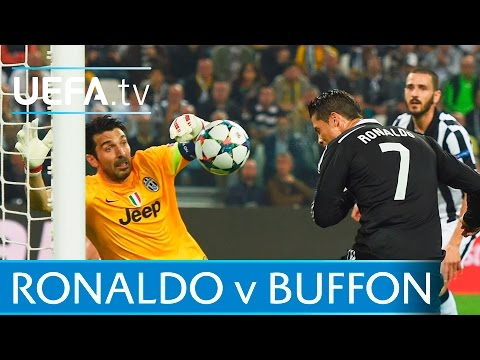Ronaldo Against Buffon. Watch The Goals
