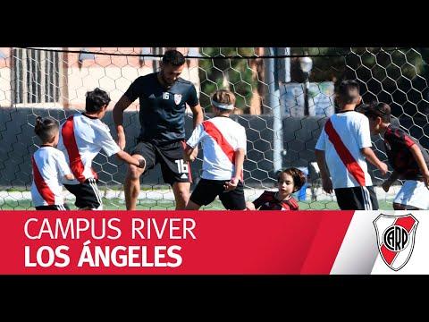Los chicos y sus ídolos, a puro fútbol en el Campus River