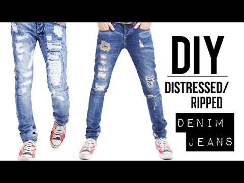 jeans - LAST WEEK'S GIVEAWAY WINNER: http://bit.ly/1cuIIEK SUBSCRIBE! IT'S FREE: http://bit.ly/1fwucqq (OPEN HERE & READ)↓ Check out how to create your own DIY distr...
