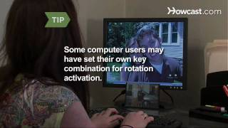 Watch more How to Pull Pranks videos: http://www.howcast.com/videos/308390-How-to-Flip-a-Computer-Screen If your work is boring you to tears, have a little f...